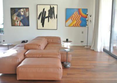 Villa E - salon cuir